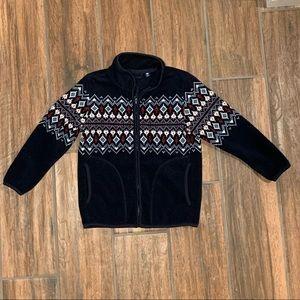 UNIQLO Unisex Print Fleece Jacket Size 3/4